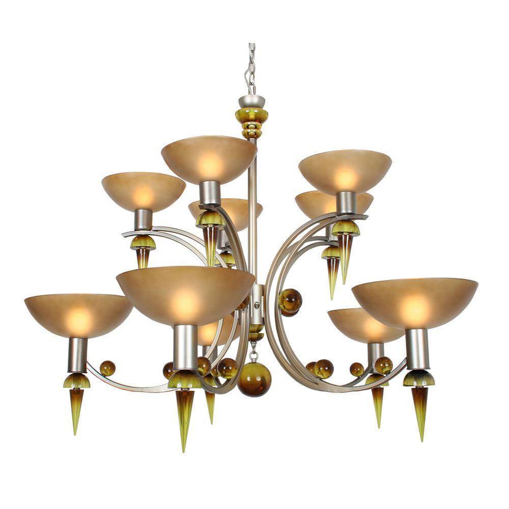 Century 10-Light Argenta Silver Chandelier