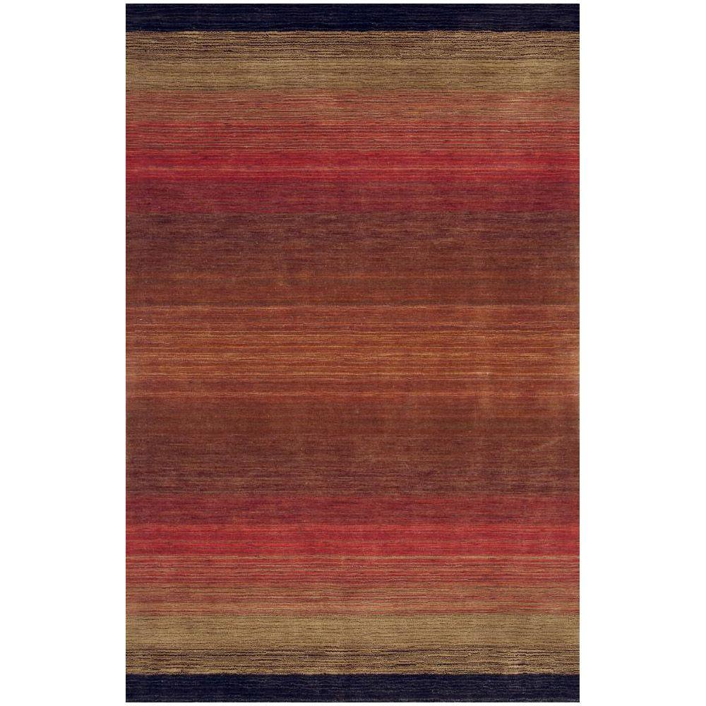 BASHIAN Contempo Collection Multi Ombre Red 7 ft. 6 in. x 9 ft. 6 in. Area Rug