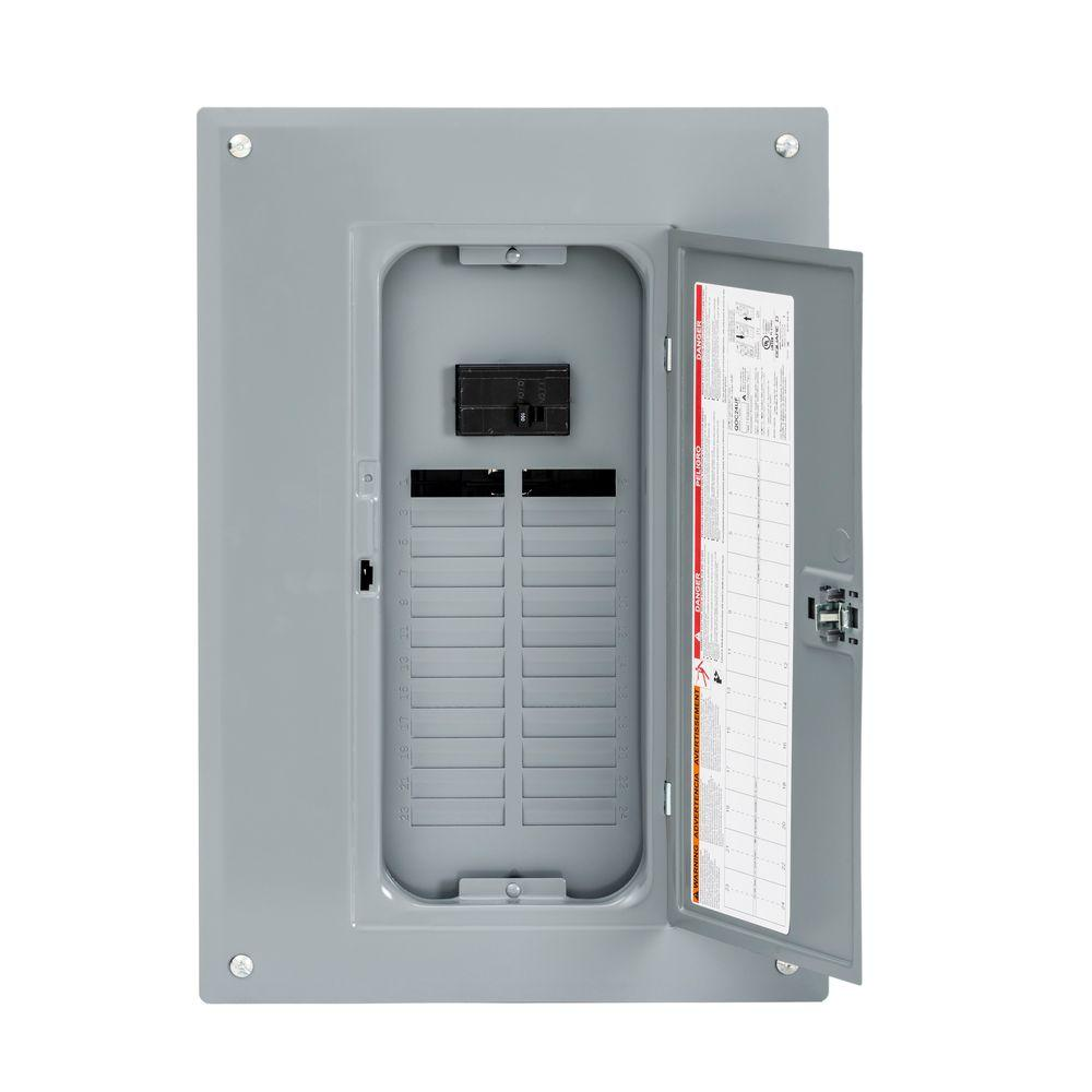 Square D Breaker Boxes Power Distribution The Home Depot 200 Amp Load Center Wiring Diagram Qo 100
