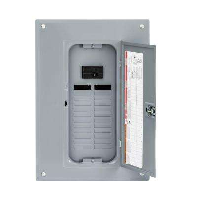 QO 100 Amp 24-Space 24-Circuit Indoor Main Breaker Plug-On Neutral Load Center with Cover