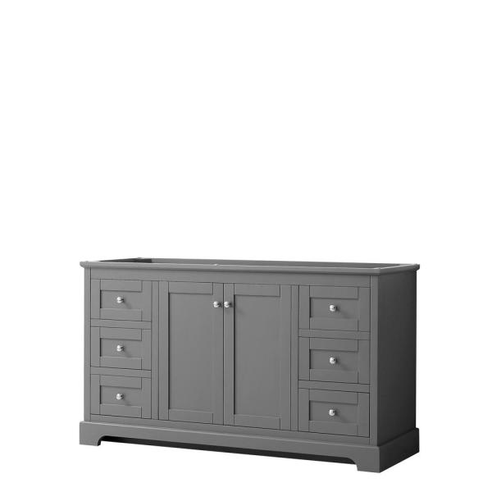 Avery 59.25 in. W x 21.75 in. D Bathroom Vanity Cabinet Only in Dark Gray