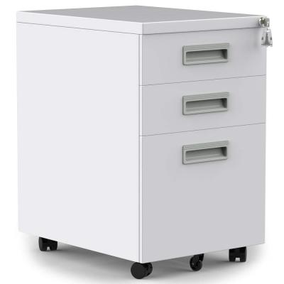 3- Drawer White Vertical Filing File Cabinet