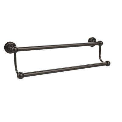 Dottingham Collection 18 in. Double Towel Bar in Oil Rubbed Bronze