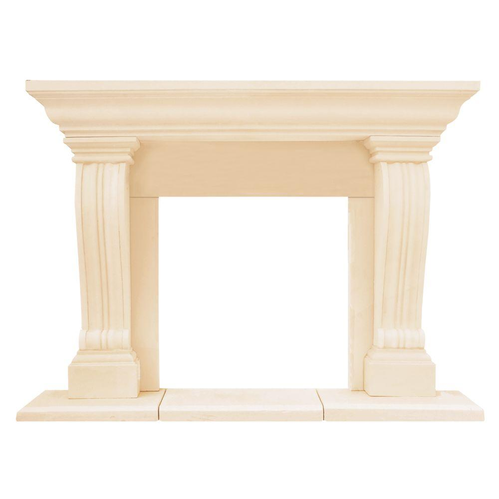 Historic Mantels Chateau Series Jordana 52 in. x 74 in. Cast Stone Mantel