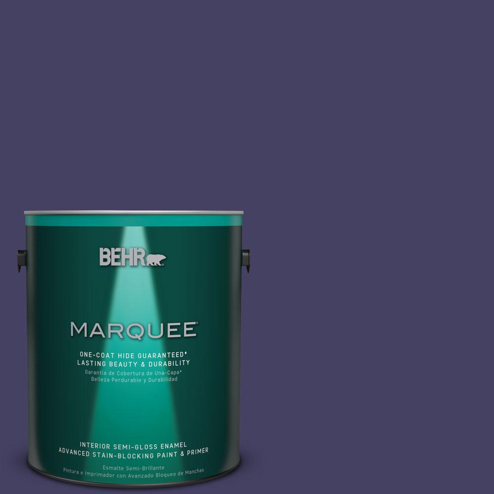 BEHR MARQUEE 1 gal. #MQ5-44 Heraldic One-Coat Hide Semi-Gloss Enamel Interior Paint