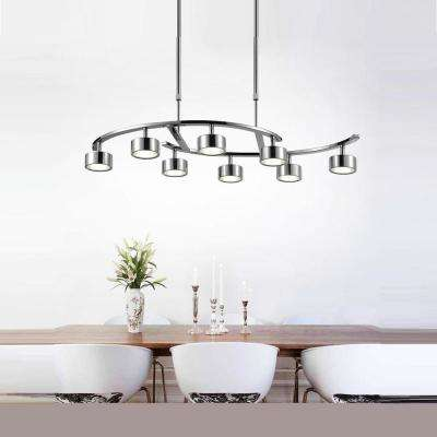 Trail 24-Watt Chrome Integrated LED Chandelier