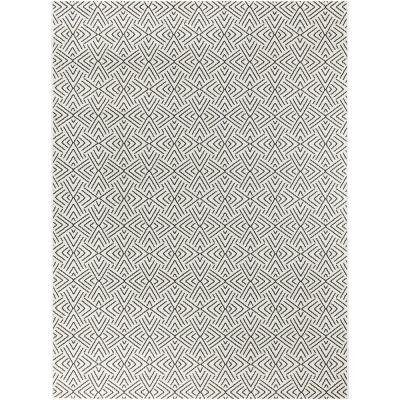 Tribal Shapes Ivory 5 ft. x 7 ft. Geometric Indoor/Outdoor Area Rug
