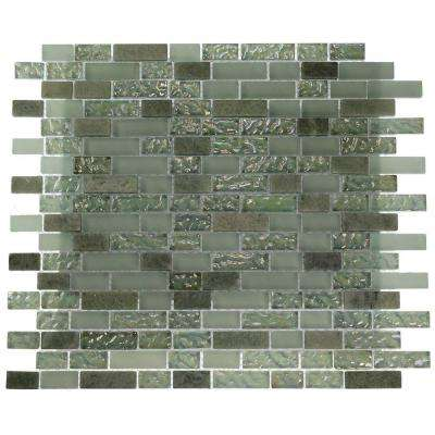 Pattern 12 in. x 12 in. x 8 mm Marble and Glass Mosaic Floor and Wall Tile