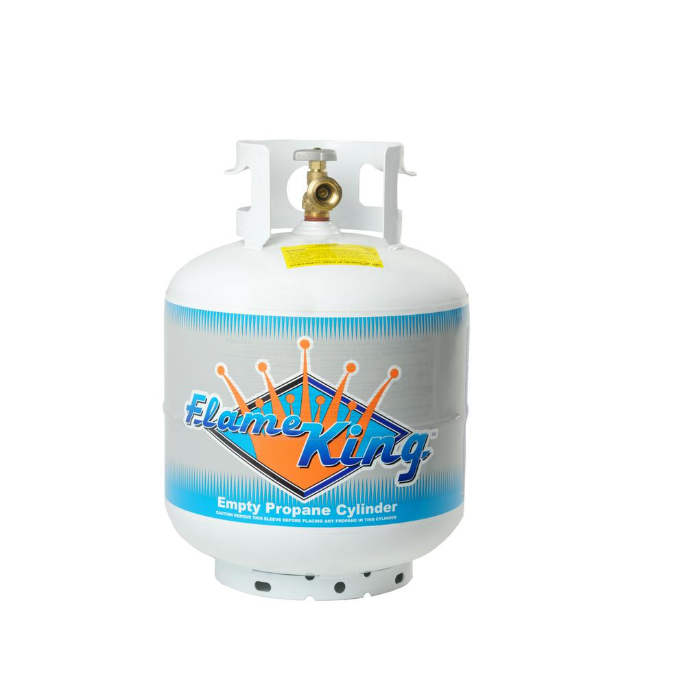 20 lb. Empty Propane Cylinder with Overflow Protection Device