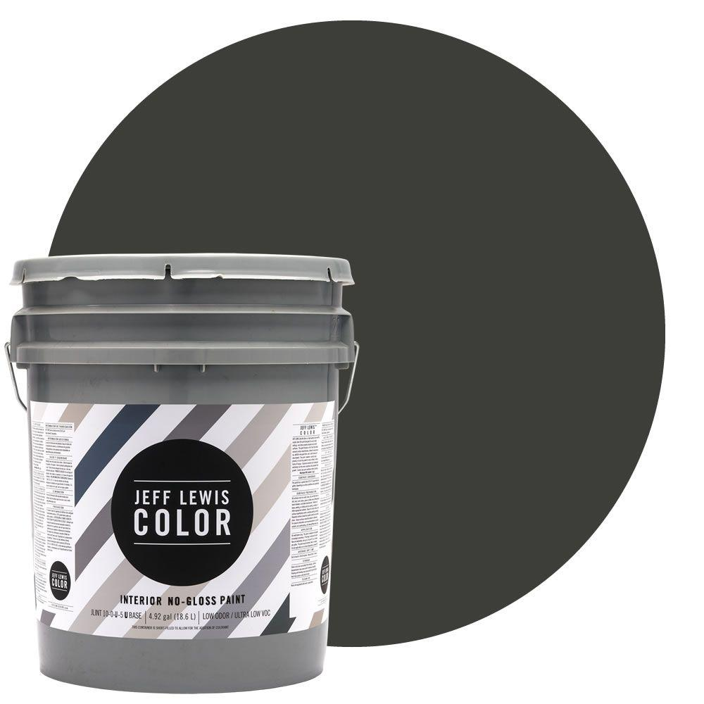 Jeff Lewis Color 5-gal. #JLC113 Mud No-Gloss Ultra-Low VOC Interior Paint