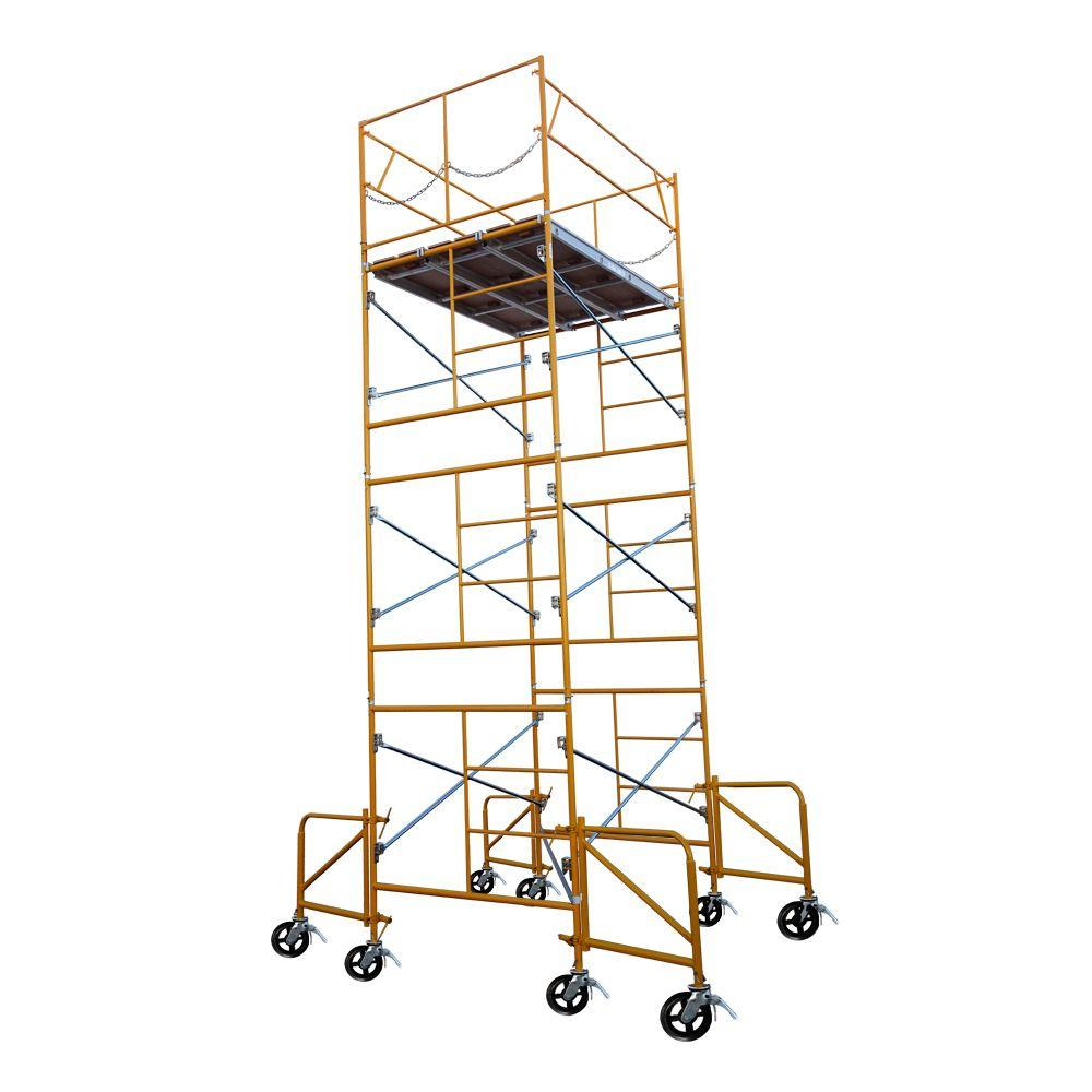 Fortress 16 ft. x 7 ft. x 5 ft. Rolling Scaffold Tower 2000 lb. Load Capacity