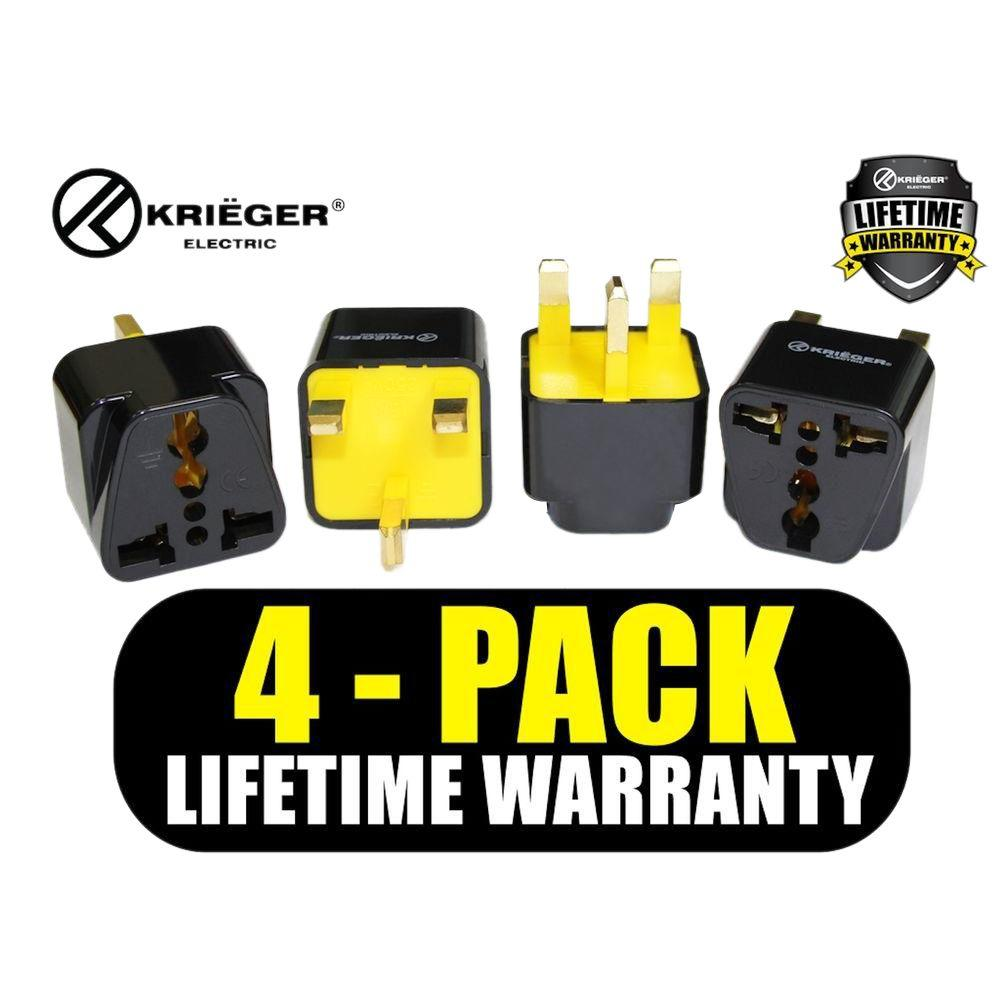 Krieger Universal To British Plug Adapter 4 Pack Kr Ukb4 The Panasonic Wiring Devices Philippines