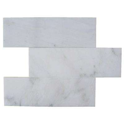 Oriental 4 in. x 12 in. x 8 mm Marble Floor and Wall Subway Tile (15 pieces 5 sq.ft./Box)