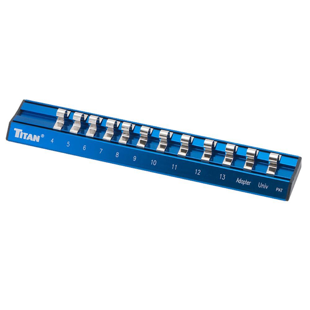 1/4 in. Drive Metric Magnetic Aluminum Socket Rail