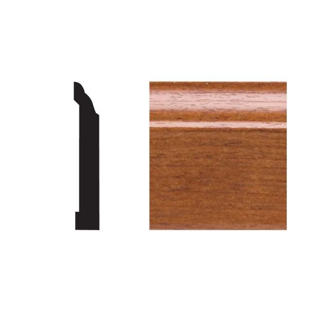 5523 7/16 in. x 3-1/4 in x 8 ft. PVC Gunstock Base Moulding
