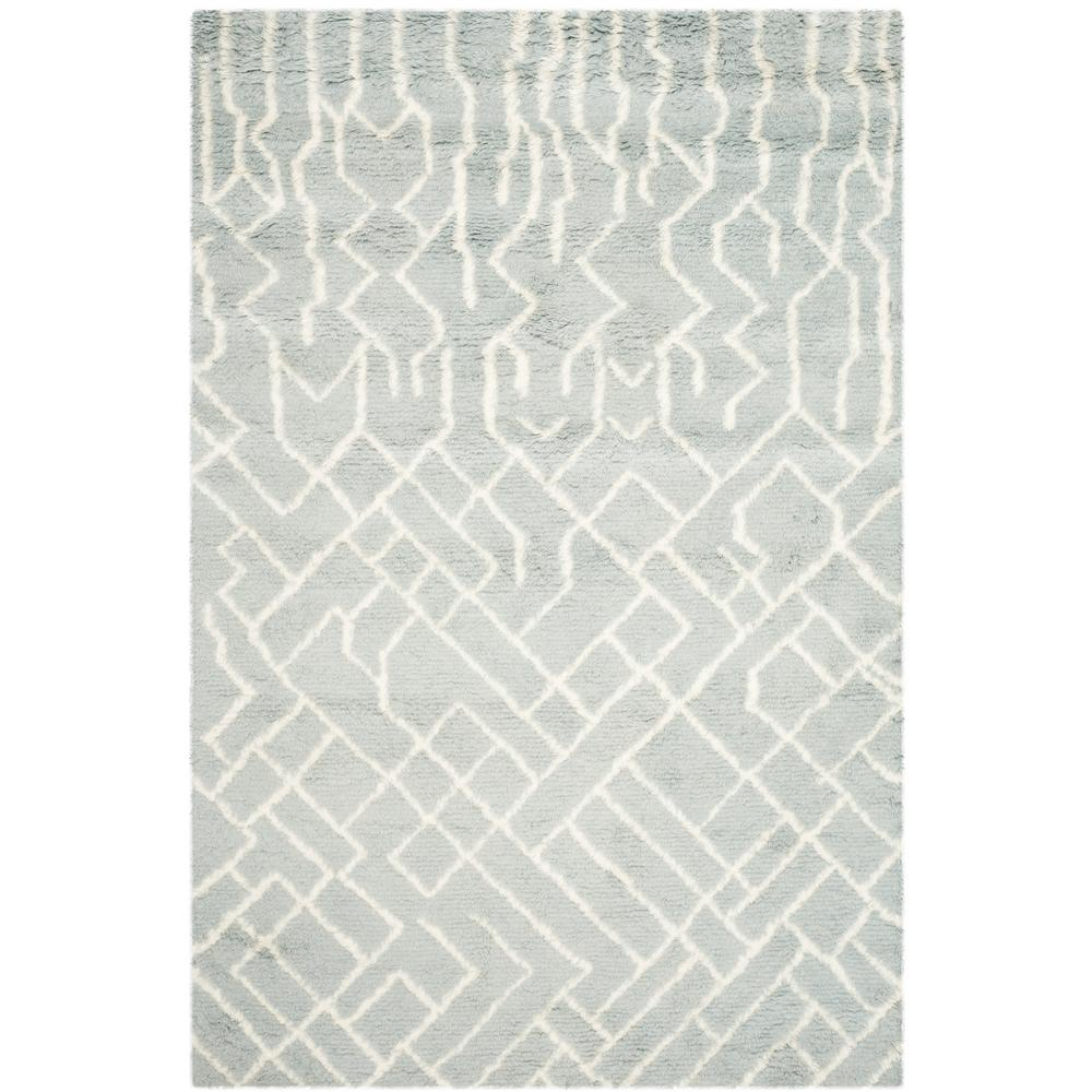 Casablanca Blue/Ivory 5 ft. x 8 ft. Area Rug