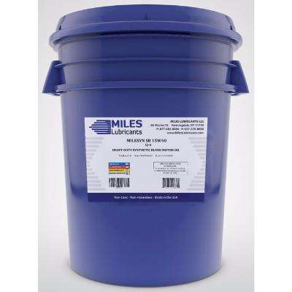 Milesyn SB 15W-40 API CK-4, 5 Gal. Synthetic Blend Diesel Motor Oil Pail