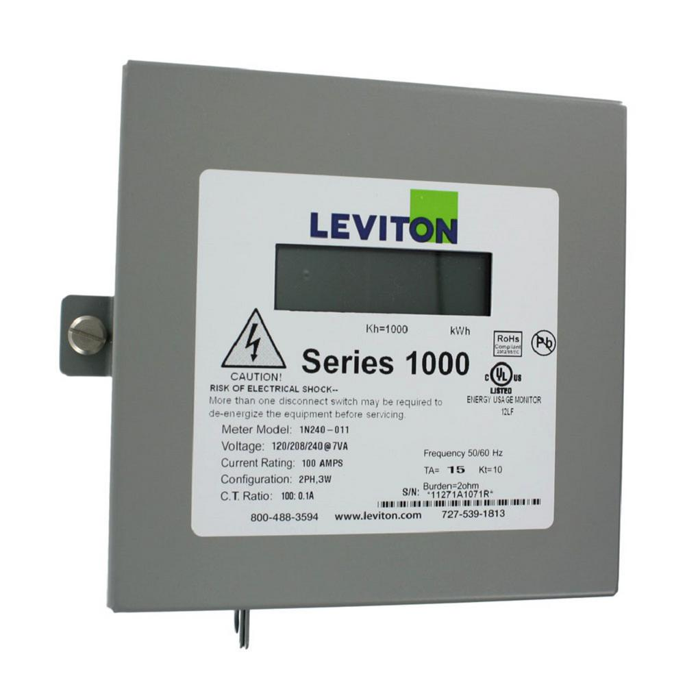 Leviton Single Phase Meter Kit, Dual Element Meter 120/208/240-Volt ...