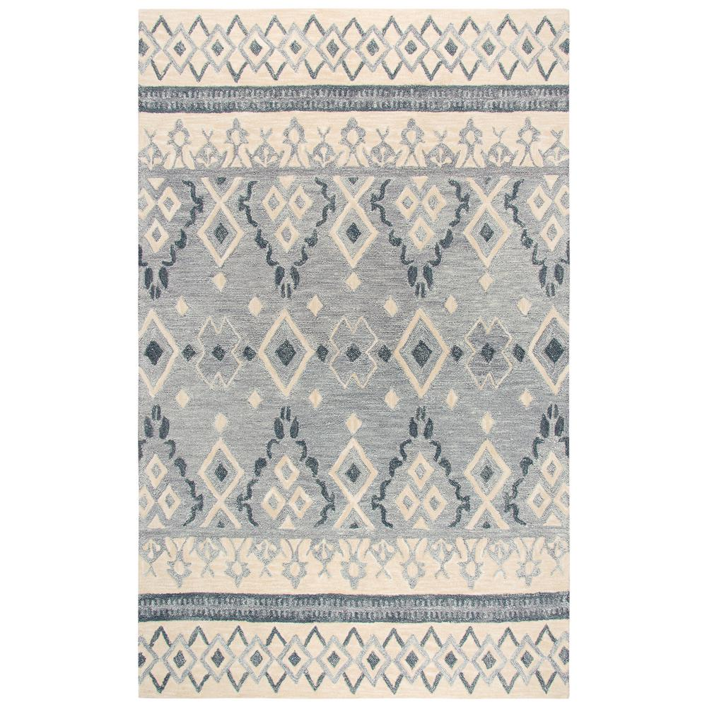 Rizzy Home Ont Gray And Beige Southwestern Hand Tufted Wool 8 Ft X 10