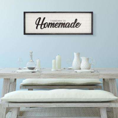 Happiness is Homemade Wood Decorative Sign