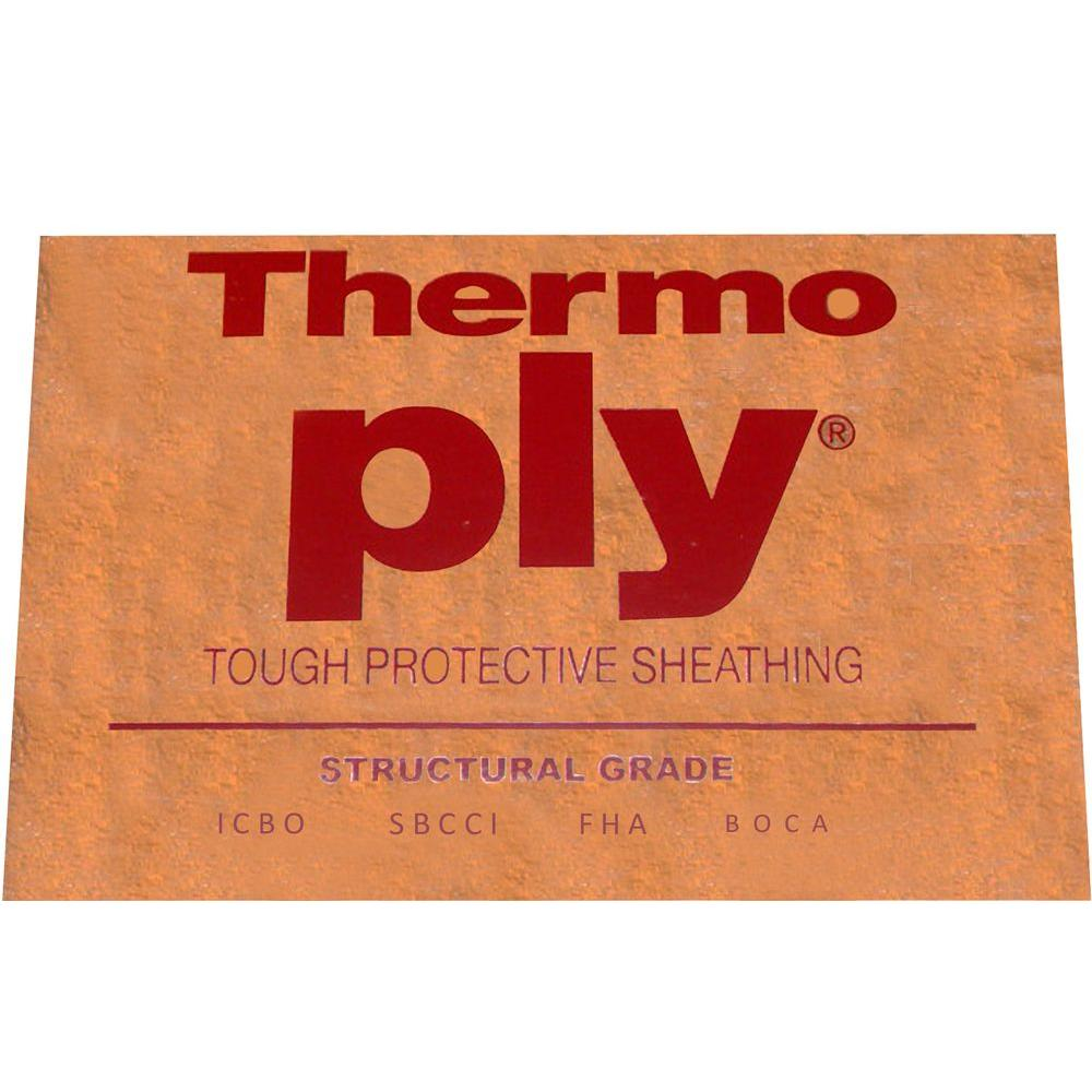null 48 in. x 96 in. Red Thermo-Ply Foil Poly Structural Sheathing