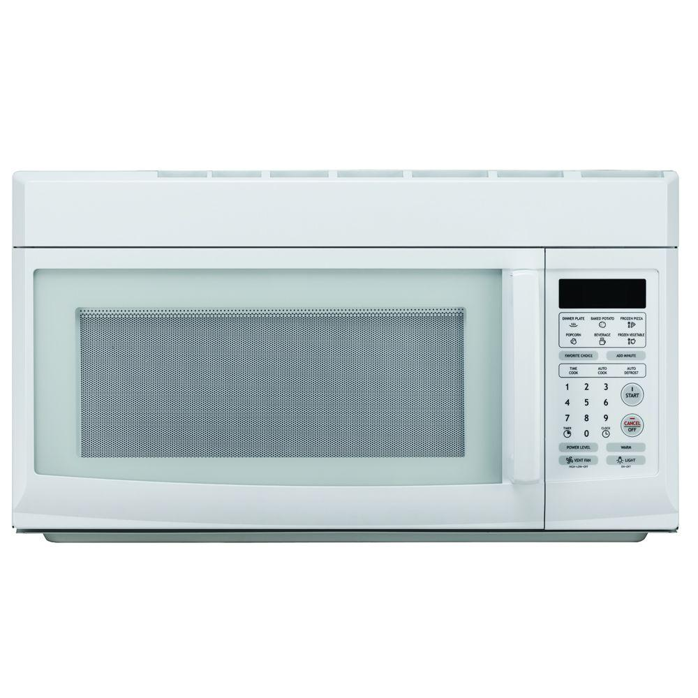 Magic Chef 1 6 Cu Ft Over The Range Microwave In White