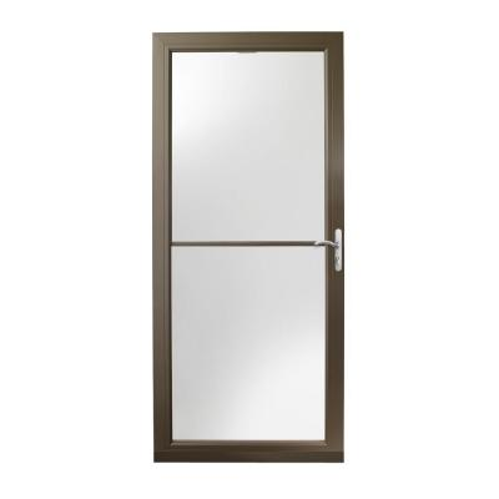36 in. x 80 in. 3000 Series Terratone Right-Hand Self-Storing Easy Install Aluminum Storm Door with Nickel Hardware