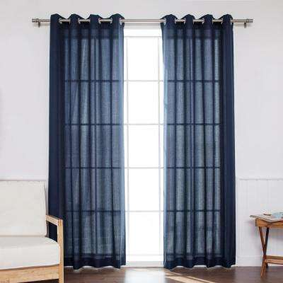 Outdoor Oxford 84 in. L Polyester Panel in Navy (2-Pack)
