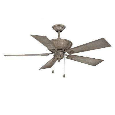 Laurie 52 in. Aged Wood Indoor Ceiling Fan
