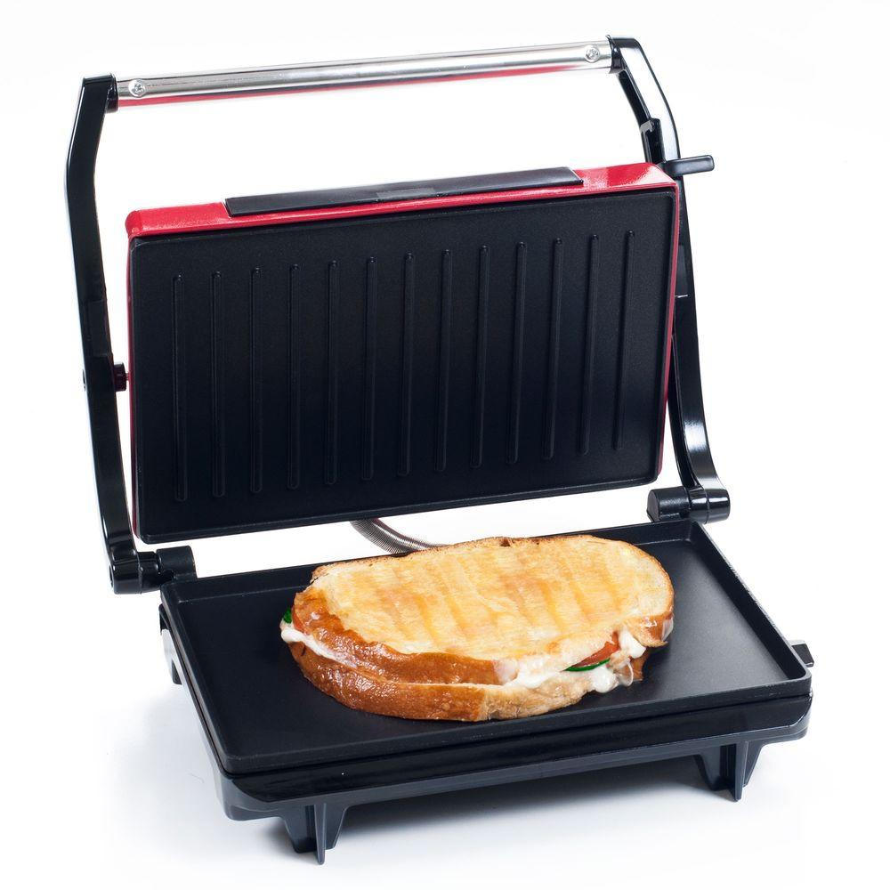 chef buddy non stick panini press 82 sw100 the home depot. Black Bedroom Furniture Sets. Home Design Ideas