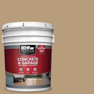 5 gal. #PFC-28 Desert Sandstone Self-Priming 1-Part Epoxy Satin Interior/Exterior Concrete and Garage Floor Paint