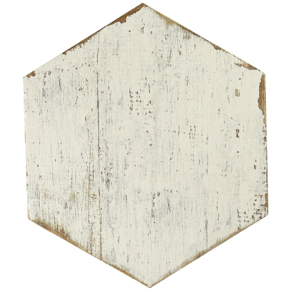 Merola Tile Retro Hex Blanc 14 1 8 In