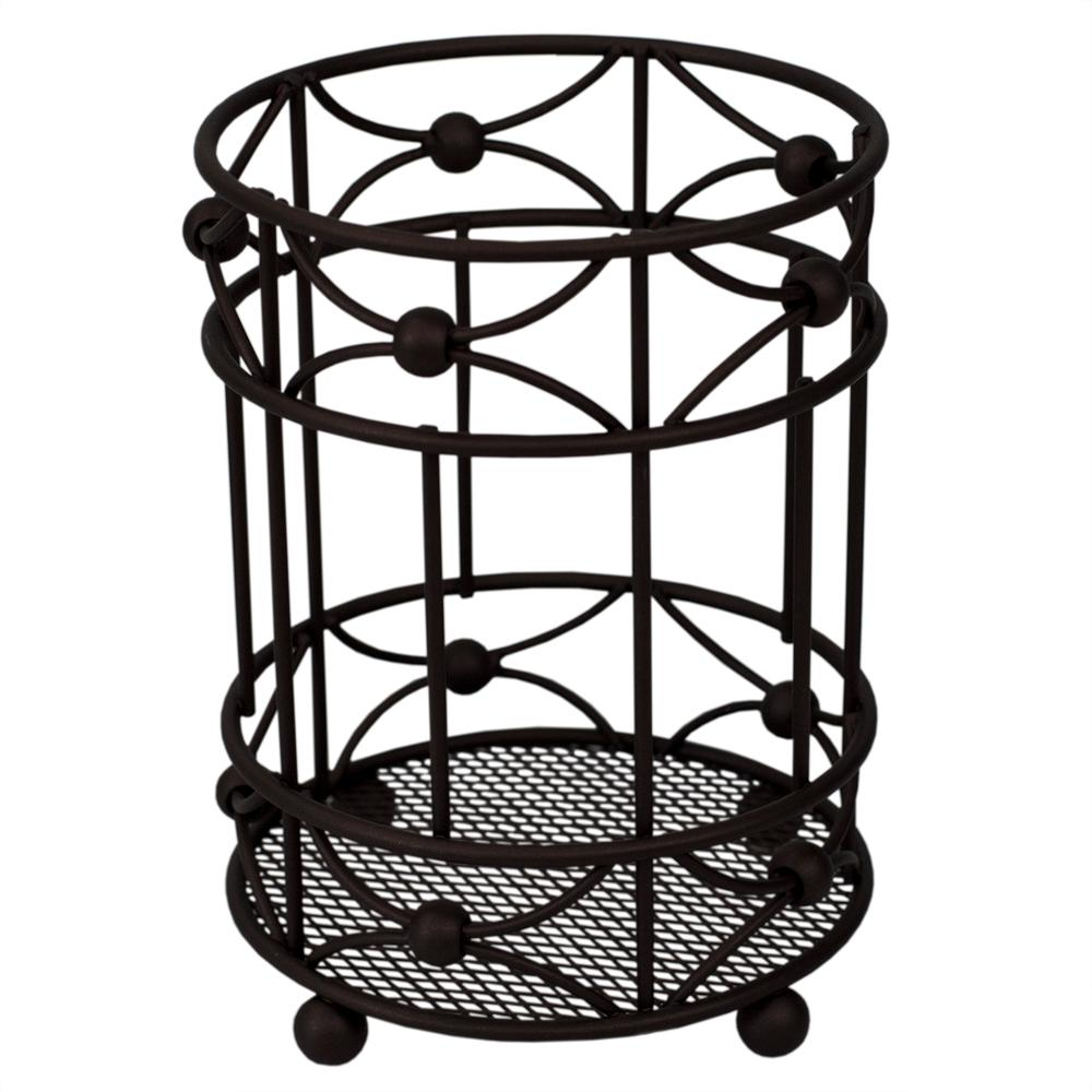 Arbor Oil-Rubbed Bronze Cutlery Holder with Mesh Bottom and Non-Skid Feet