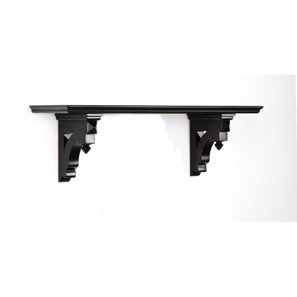 Martha Stewart Living Solutions 8 in. Floating Silhouette Small Country Shelf