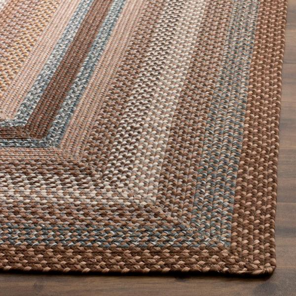 Safavieh Braided Brown Multi 2 Ft X 3 Ft Area Rug Brd313a 2 The Home Depot