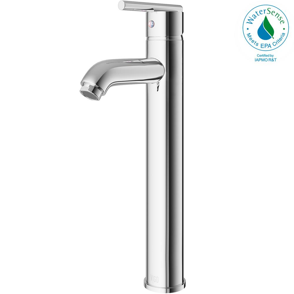 vigo bathroom faucets. VIGO Single Hole Single-Handle Low-Arc Vessel Bathroom Faucet In Chrome Vigo Faucets E