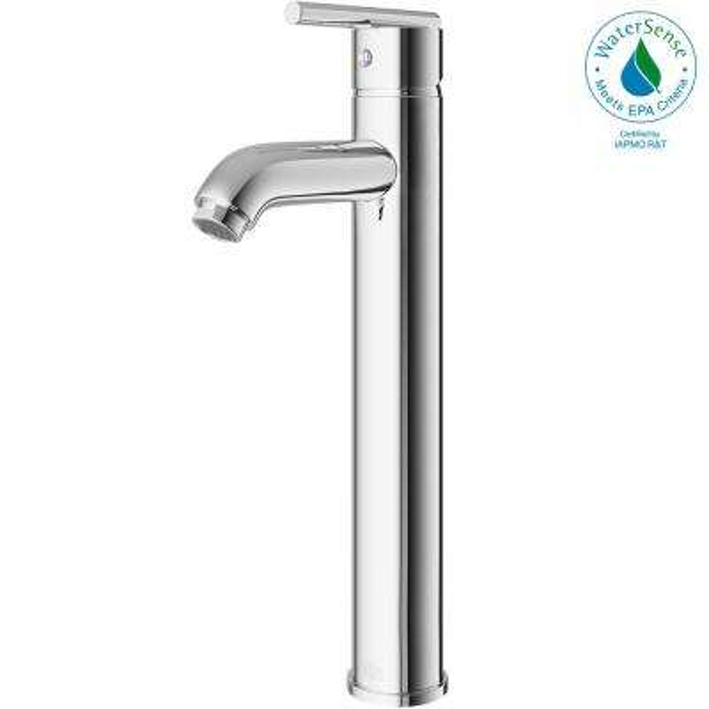 Single Hole Single-Handle Low-Arc Vessel Bathroom Faucet in Chrome