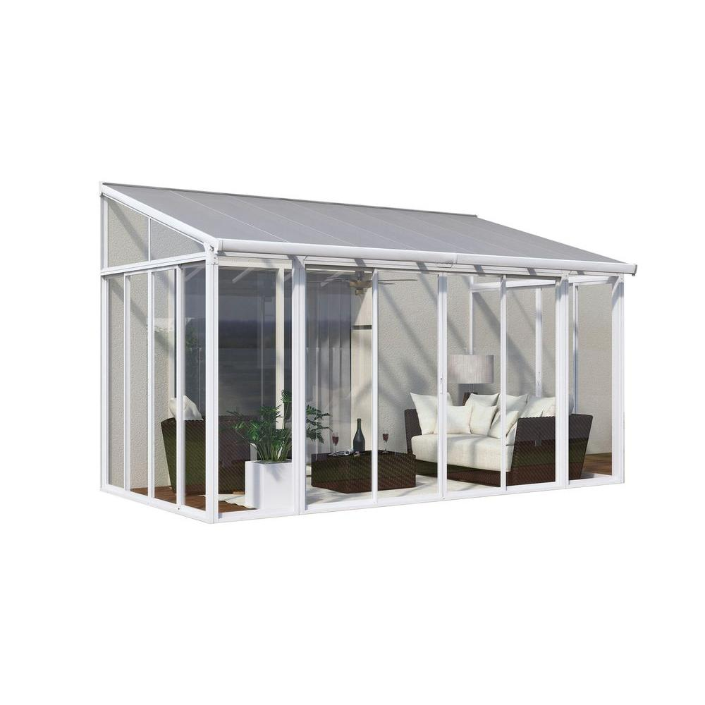 home depot patio covers Palram SanRemo 10 ft. x 14 ft. Patio Enclosure 703062   The Home Depot home depot patio covers