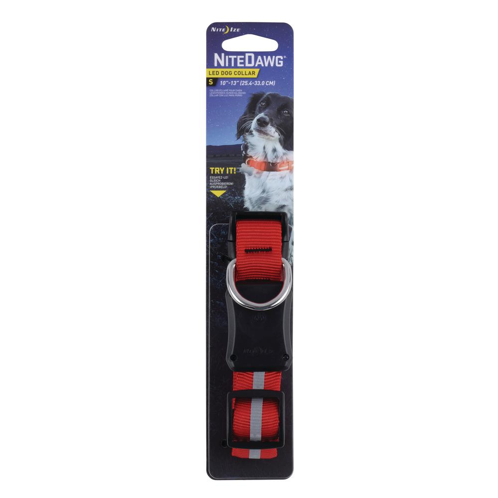 Nite Ize Nite Dawg Led Dog Collar Small Red Nnd2s 10 R3