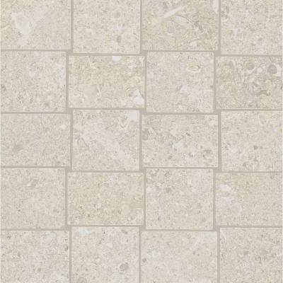Adelaide White Matte 12 in. x 12 in. x 9.5 mm Porcelain Mosaic Floor and Wall Tile (0.97 sq. ft. / piece)