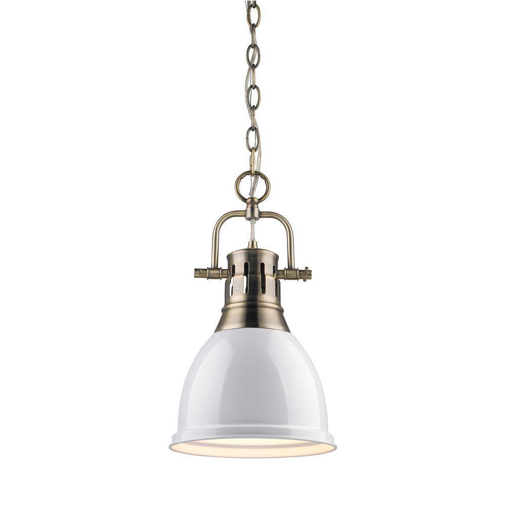 Duncan Collection 1-Light Aged Brass Mini Pendant