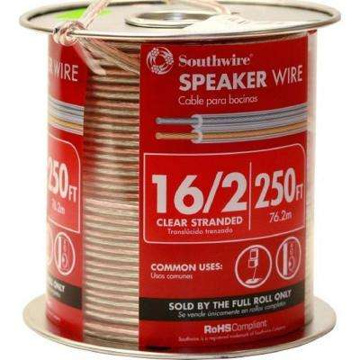 (By-the-Foot) 16/2 Clear Stranded CU CL3 Speaker Wire