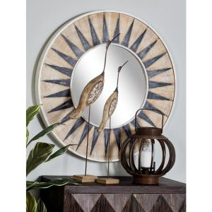 Click here to buy  Sun-Inspired Round White Accent Decorative Mirror.