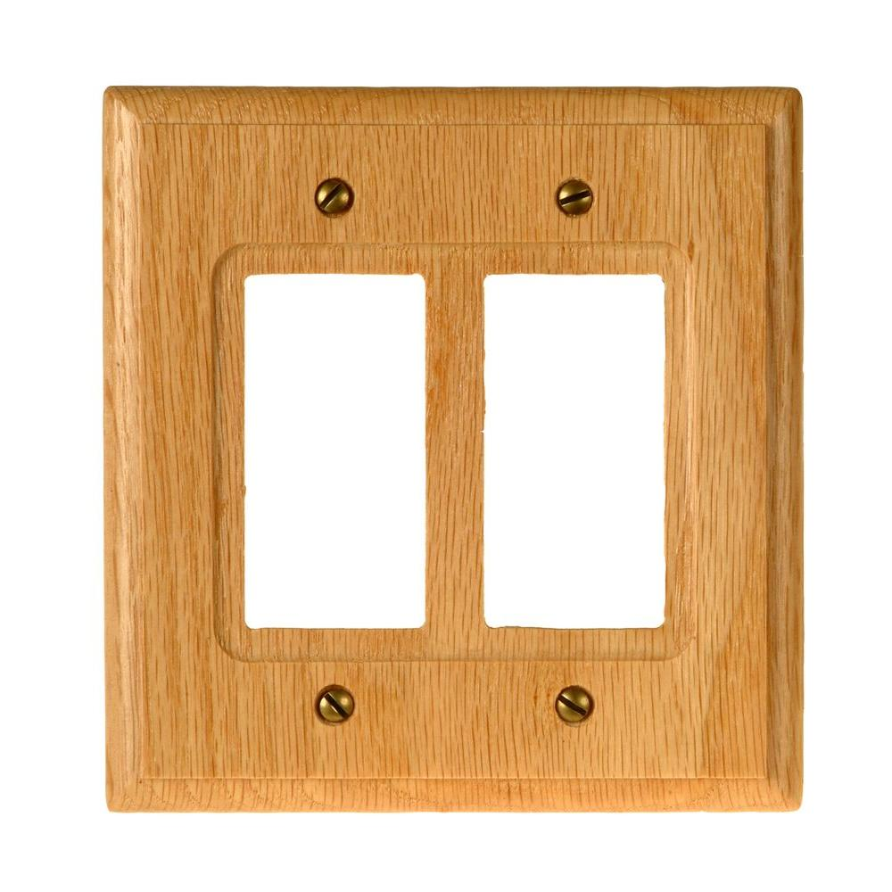 Amerelle 2 Decora Wall Plate - Light Oak