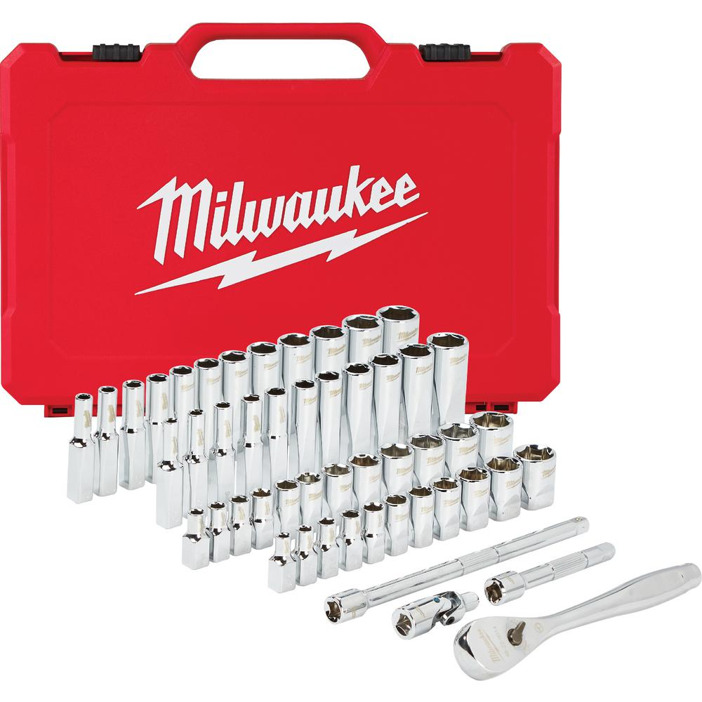 Surprising Milwaukee 1 4 In Drive Sae Metric Ratchet And Socket Mechanics Tool Set 50 Piece Creativecarmelina Interior Chair Design Creativecarmelinacom
