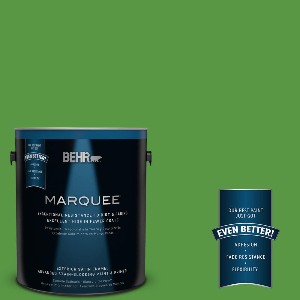 1-gal. #430B-7 Cress Green Satin Enamel Exterior Paint