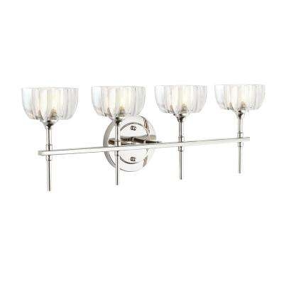 Tulip 4-Light Polished Nickel Vanity Light