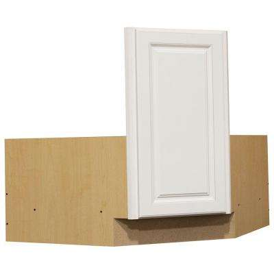 Hampton Ready to Assemble 36 x 34.5 x 24 in. Corner Sink Base Kitchen Cabinet in Satin White
