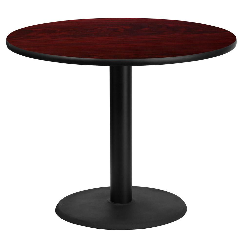 Charmant Flash Furniture 36 In. Round Mahogany Laminate Table Top With 24 In. Round  Table