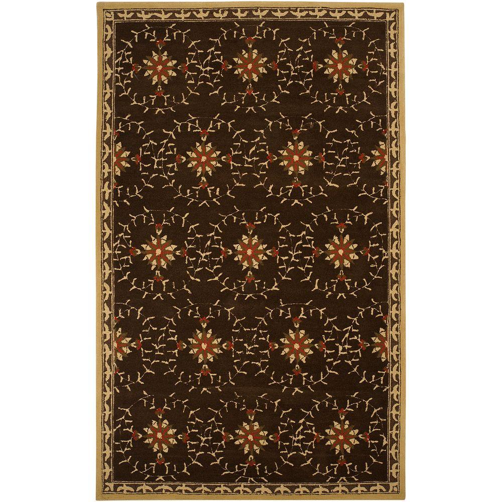 Artistic Weavers Trachelium Chocolate 5 ft. x 8 ft. Area Rug-DISCONTINUED